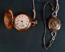 Set of 2 Gold Ladies Watches
