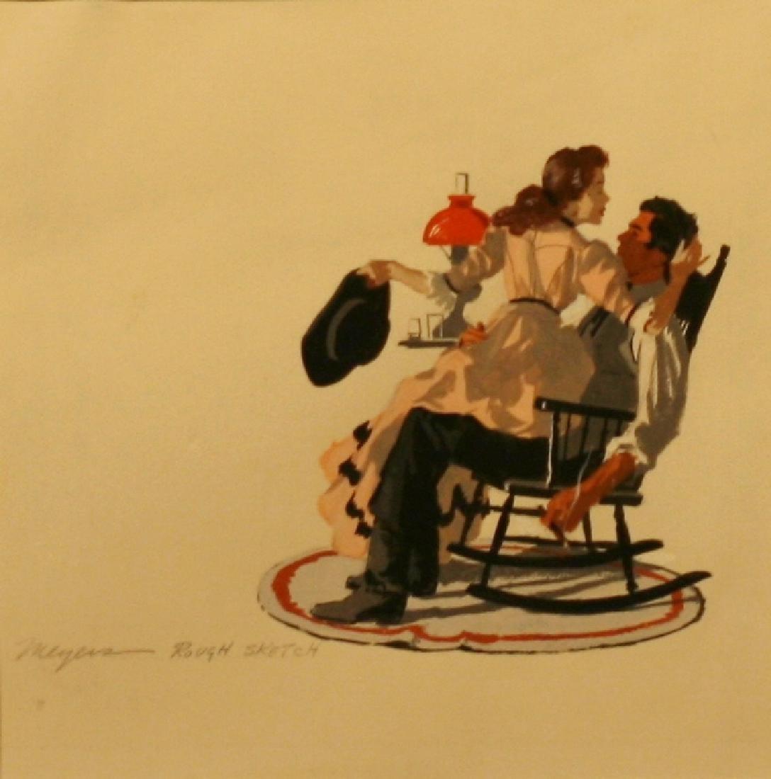 Robert Meyers (1919-1971), Gouache, Set,