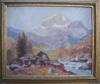 Ruth Minerva Bennett, Oil on Canvas