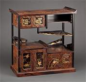 SUPERIOR JAPANESE LACQUERED TABLE TOP CABINET