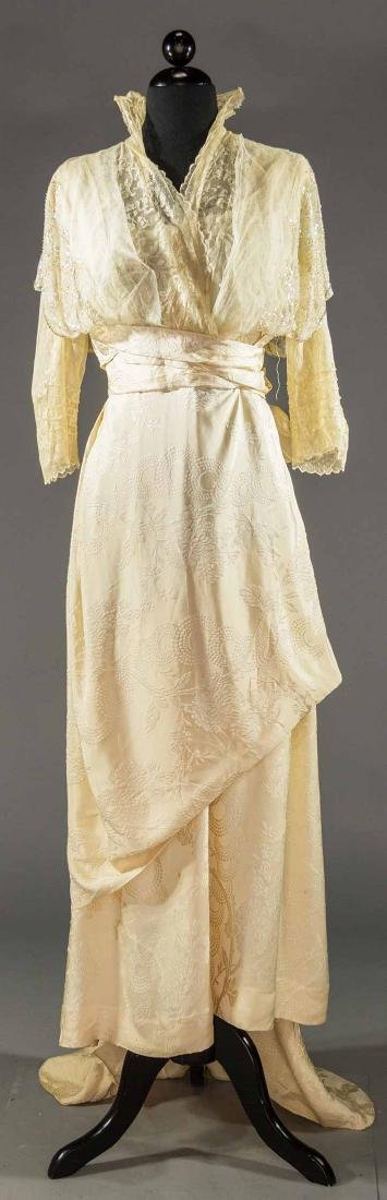 TRAINED CHARMEUSE EVENING GOWN, c. 1912