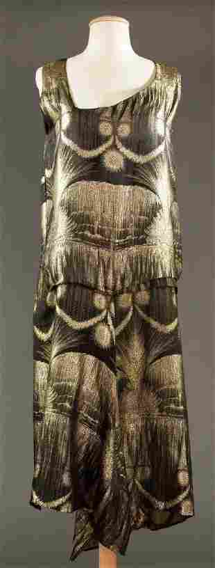 DECO LAME EVENING GOWN, LATE 1920s