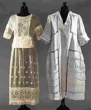 TWO AFTERNOON DRESSES, EARLY 1920s