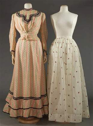 ONE DRESS & ONE SKIRT, 1900 & 1860