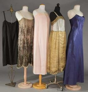 FIVE SILK SLIPS, 1920-1930