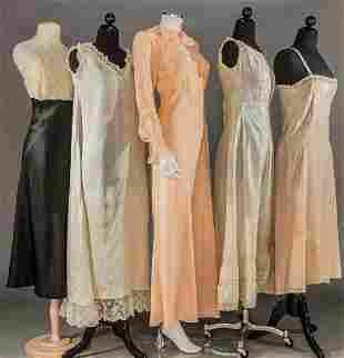 FIVE PIECES SILK LINGERIE, 1910-1930