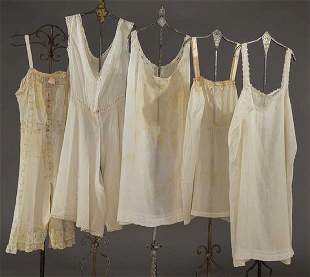 TWO STEP-INS & THREE CAMISOLES, 1905-1915