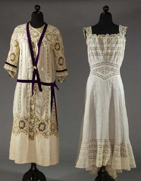 TWO LAWN & LACE GARMENTS, 1910 & 1920s
