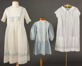 THREE GIRL'S DRESSES, 1920s