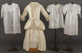 FOUR GIRL'S COTTON DRESSES, EARLY 20TH C