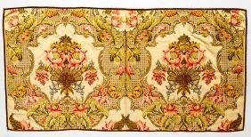 SILK & COPPER BROCADE RUNNER, 1740-1760s