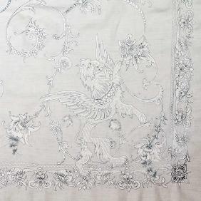 14 WHITE LINEN TABLE CLOTHS