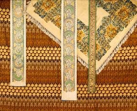FOUR PRINTED OR STENCILLED TEXTILES
