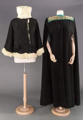 SOUTACHE JACKET & JEWELED CAPE, 1915 & 1940s