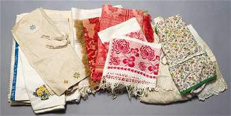 GROUP OF LINENS, LATE 19TH C