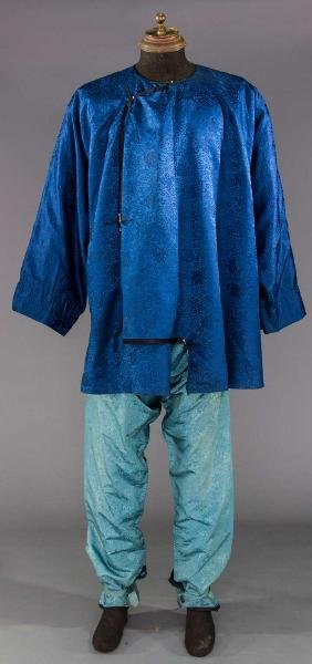 MAN'S ROBE & PANTS SET, CHINA, 1900-1920s
