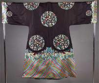 EMBROIDERED ROBE, CHINA, 19TH C