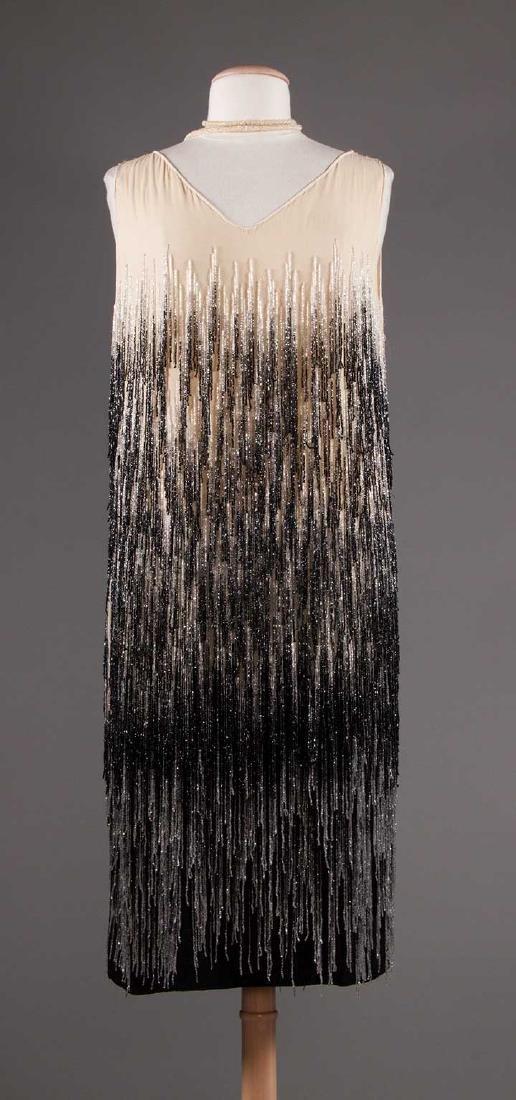 OMBRE BEADED FRINGE DRESS, 1920s
