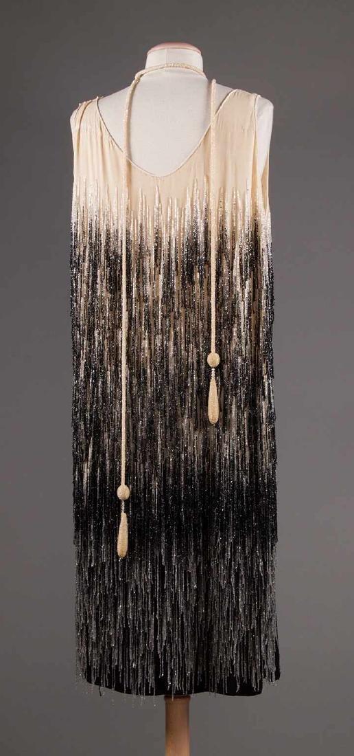 OMBRE BEADED FRINGE DRESS, 1920s - 4