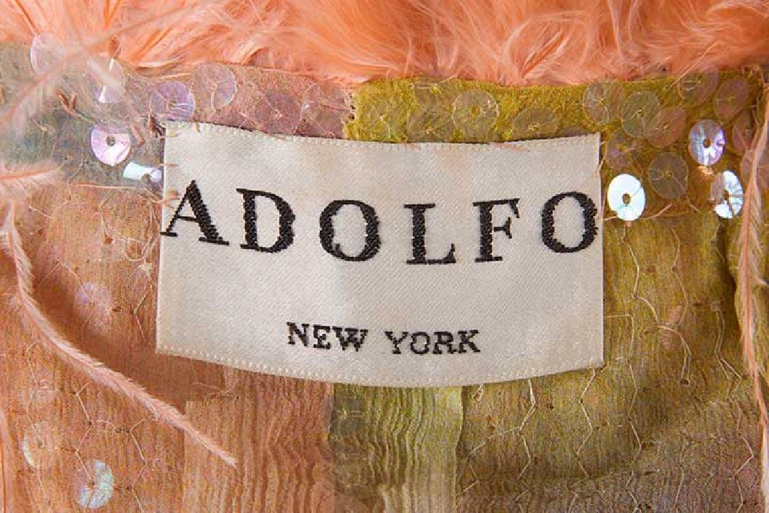 ADOLFO SEQUINED & FEATHERED EVENING CAPE, 1980s - 10