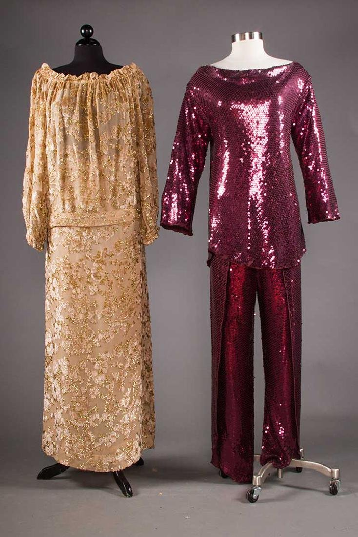 ADOLFO SEQUINED & FEATHERED EVENING CAPE, 1980s - 6