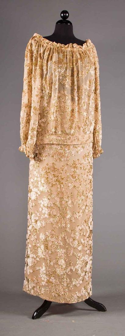 ADOLFO SEQUINED & FEATHERED EVENING CAPE, 1980s - 7
