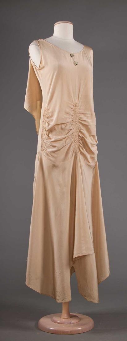 TWO BIAS-CUT EVENING DRESSES, 1930s - 4
