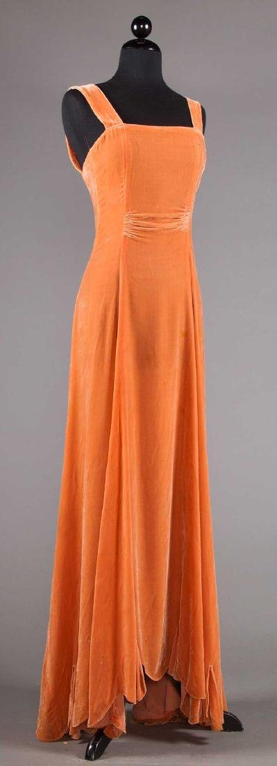TWO BIAS-CUT EVENING DRESSES, 1930s - 5