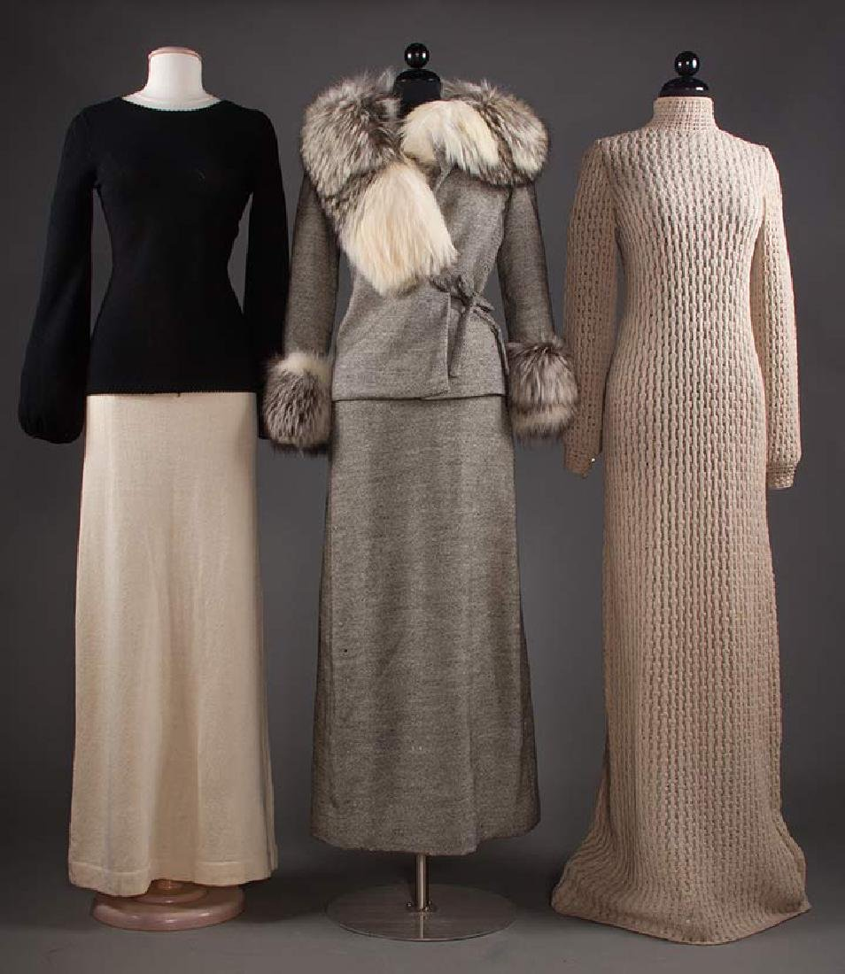 THREE ADOLFO GARMENTS, 1970s
