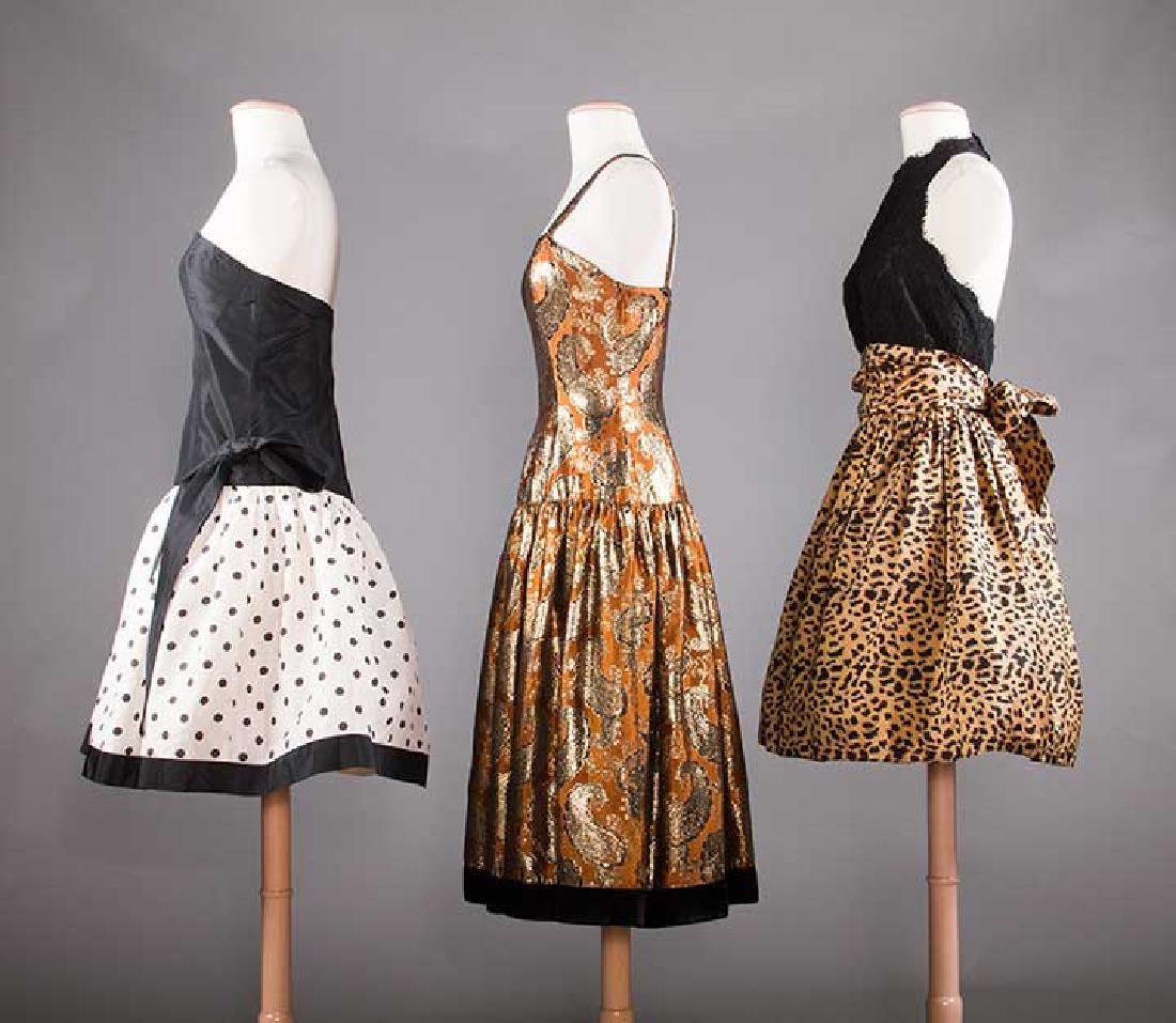 THREE PARTY DRESSES, LATE 20TH C - 2