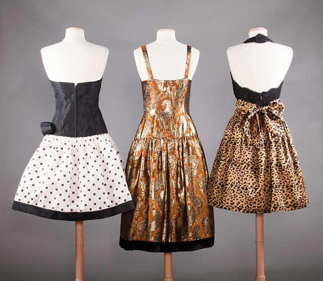 THREE PARTY DRESSES, LATE 20TH C - 3