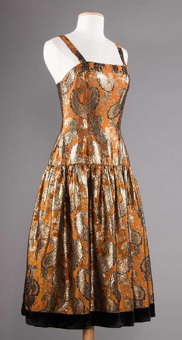 THREE PARTY DRESSES, LATE 20TH C - 5