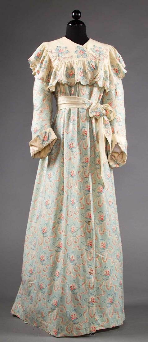3 LADIES' AT-HOME WRAPPERS, 19TH C - 8