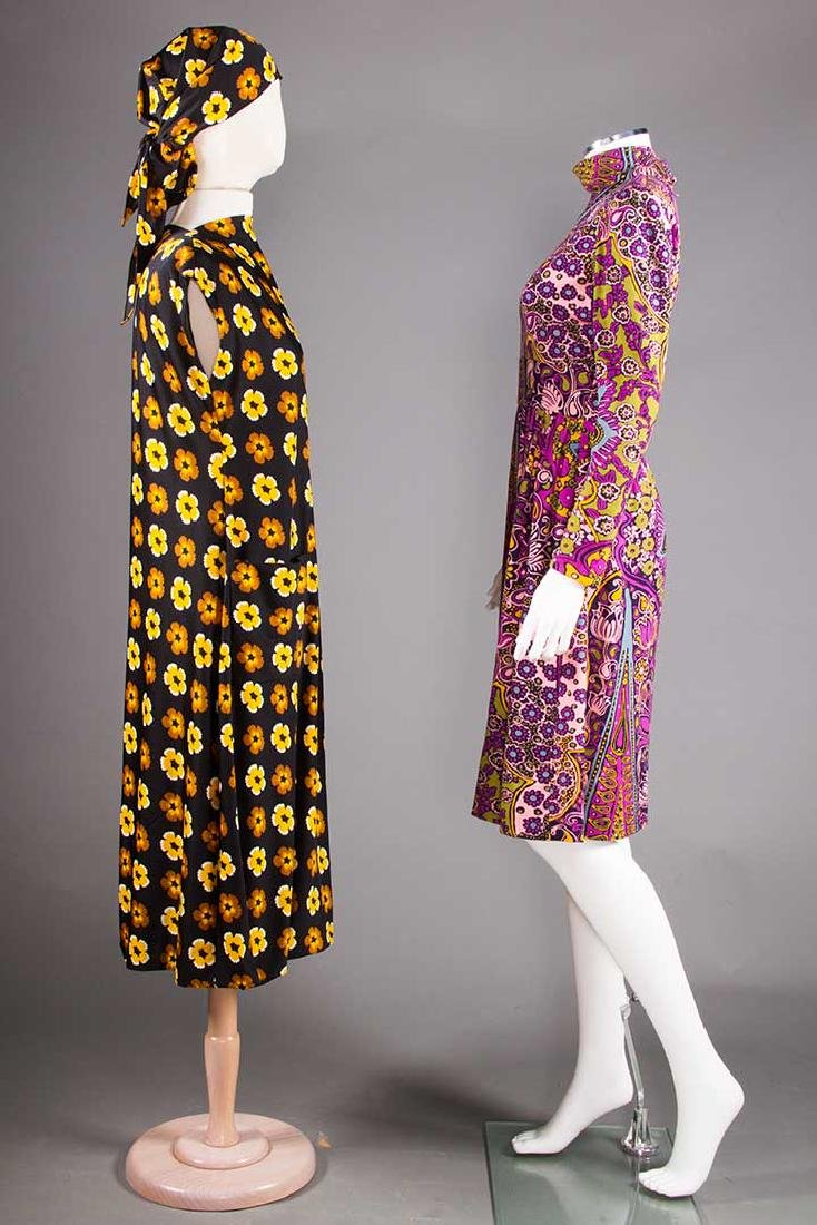 TWO PRINTED TRIGERE DRESSES, 1960-1970 - 2
