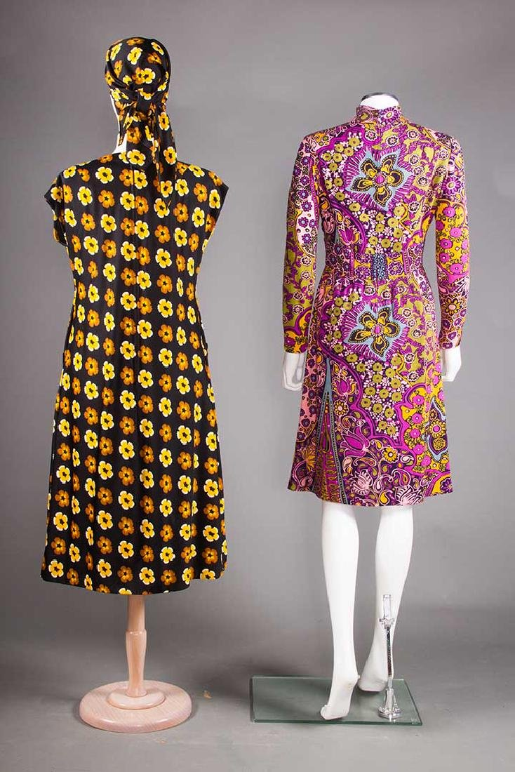 TWO PRINTED TRIGERE DRESSES, 1960-1970 - 3