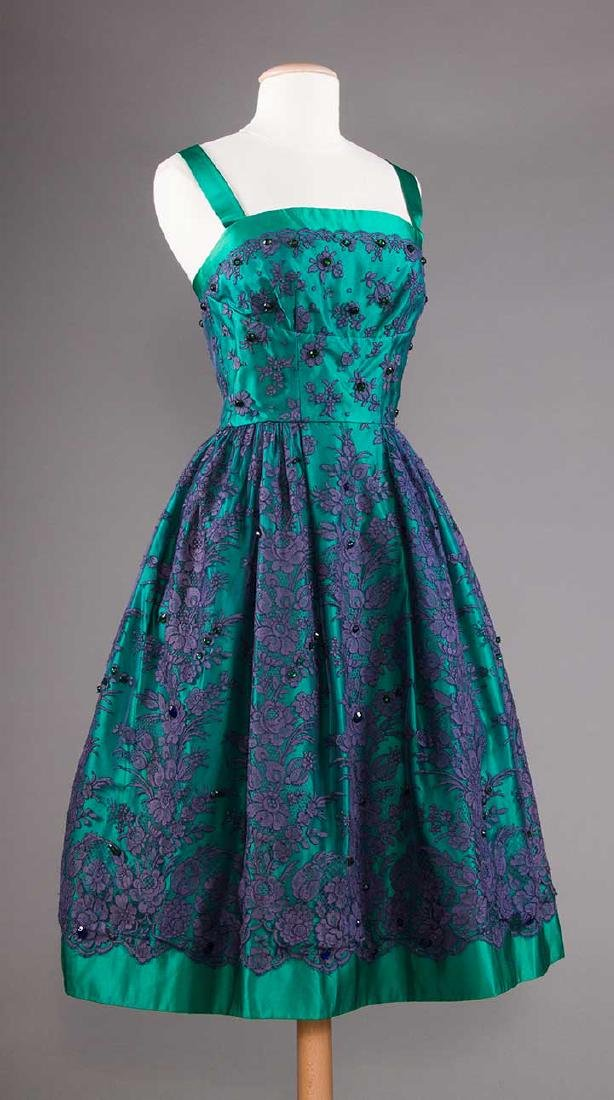 1 GREEN & 1 BLACK PARTY DRESS, 1955-1965 - 4