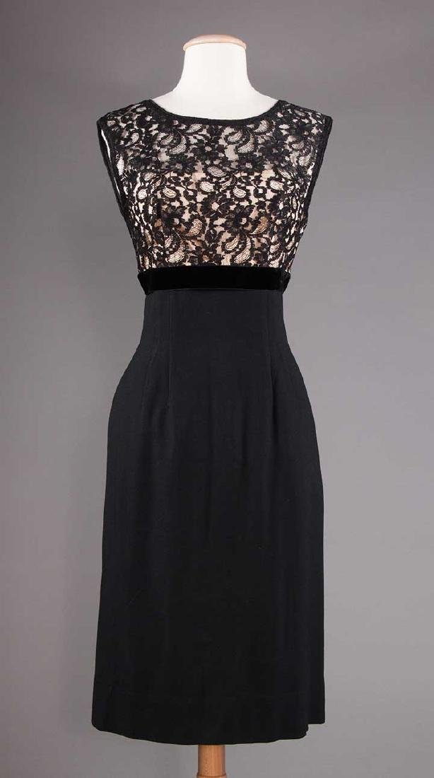 1 GREEN & 1 BLACK PARTY DRESS, 1955-1965 - 8