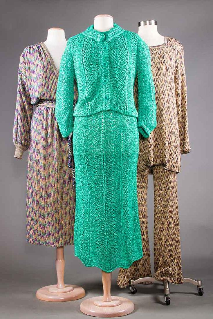 TWO MISSONI EVENING OUTFITS, 1970s - 10