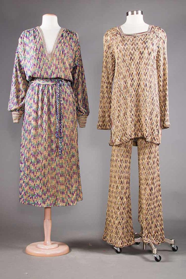 TWO MISSONI EVENING OUTFITS, 1970s