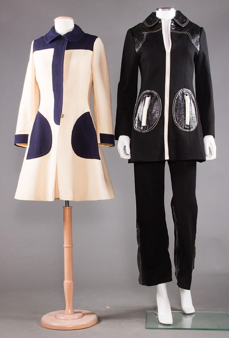 TWO MOD WOOL OUTFITS, MID 1960s
