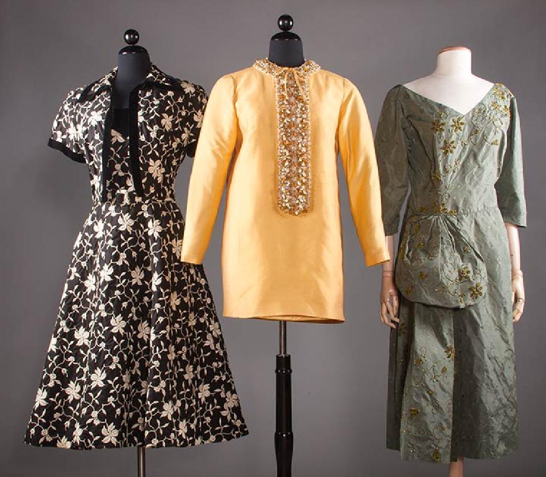 THREE COCKTAIL DRESSES, 1955-1965