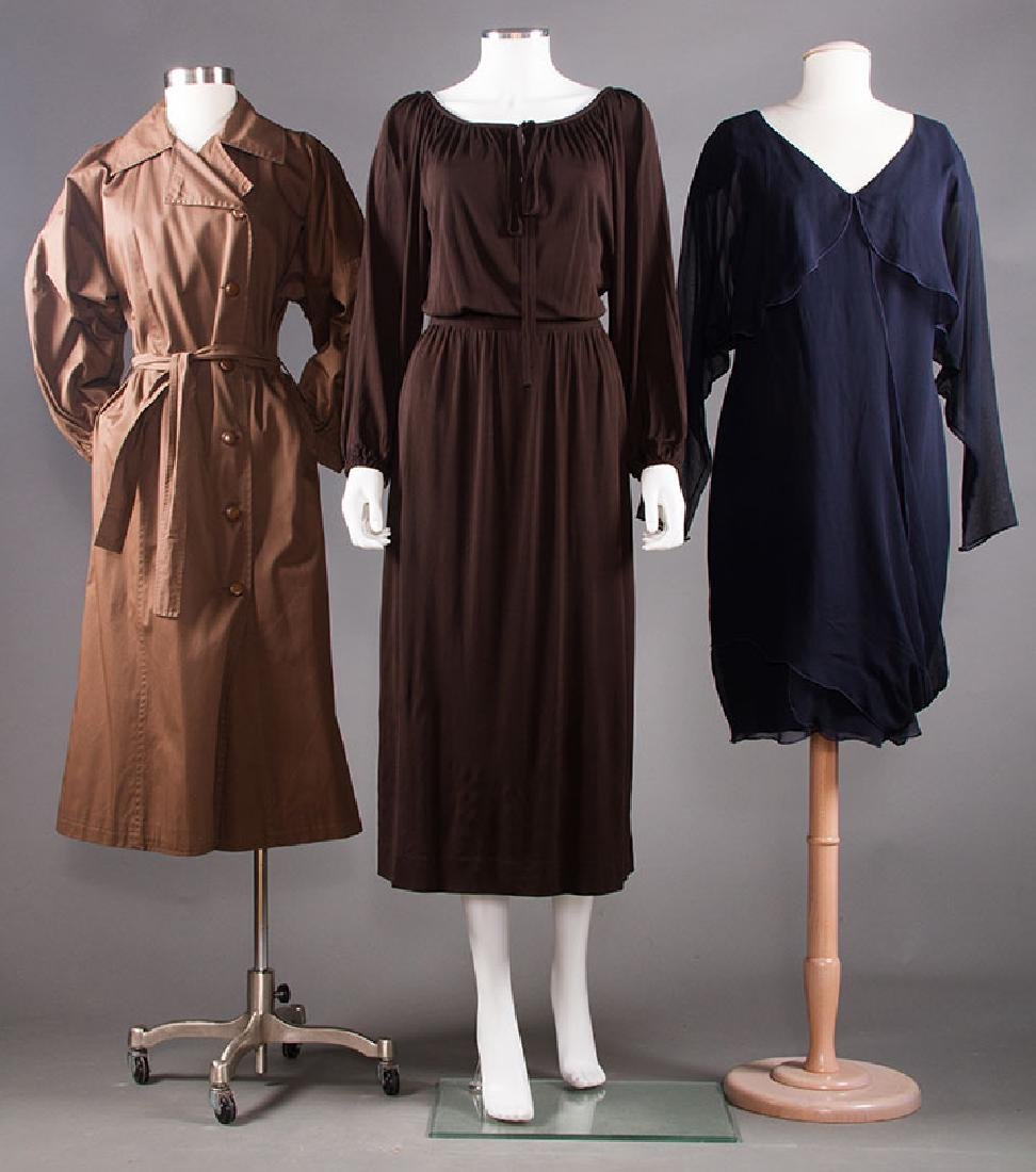 THREE DESIGNER GARMENTS, 1970-1980s