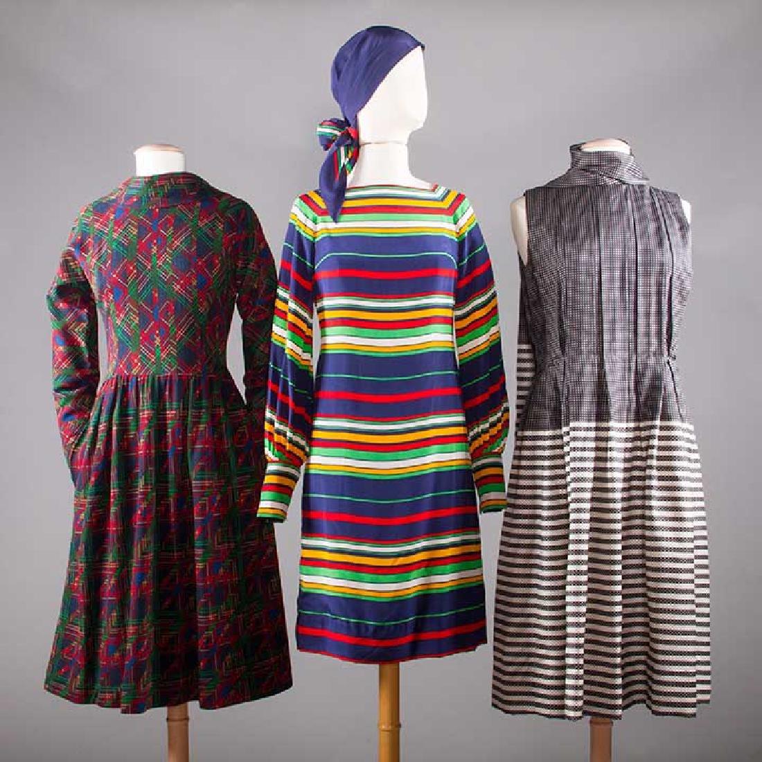 THREE PAULINE TRIGERE DRESSES, 1970s