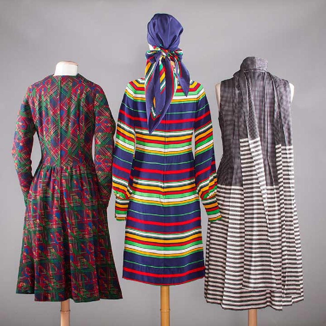 THREE PAULINE TRIGERE DRESSES, 1970s - 3