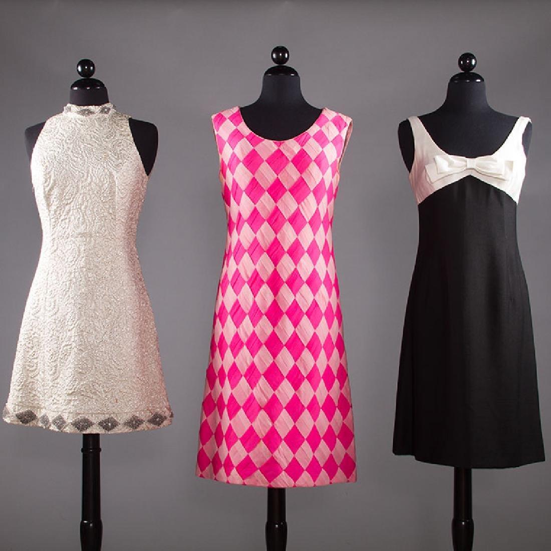 THREE PARTY DRESSES, 1960s