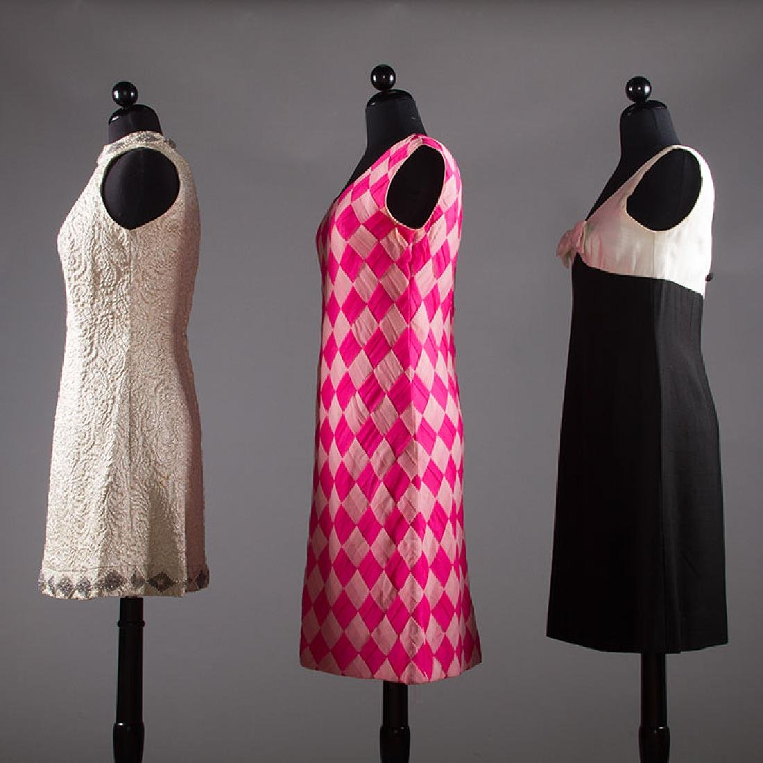 THREE PARTY DRESSES, 1960s - 2