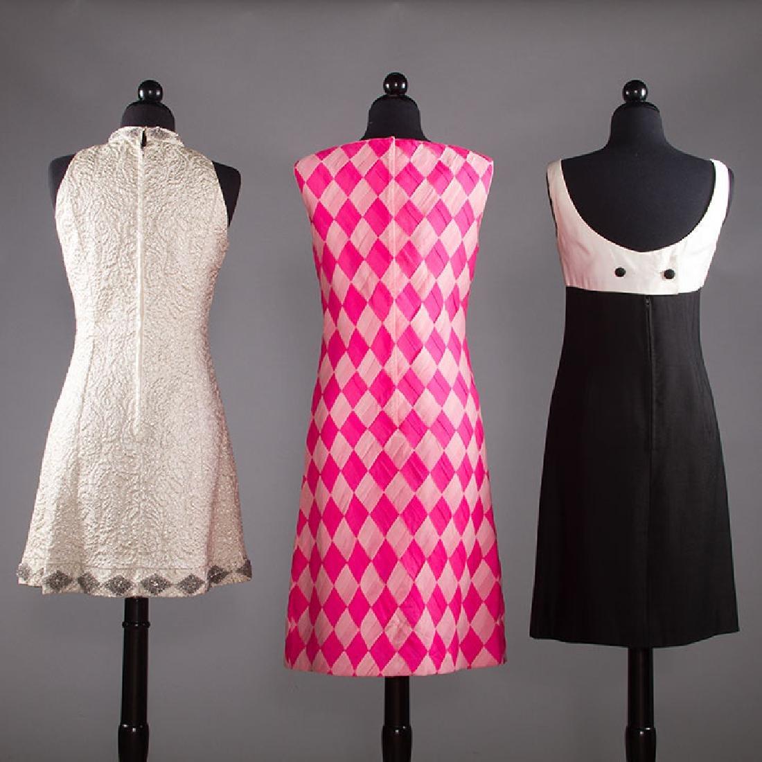 THREE PARTY DRESSES, 1960s - 3