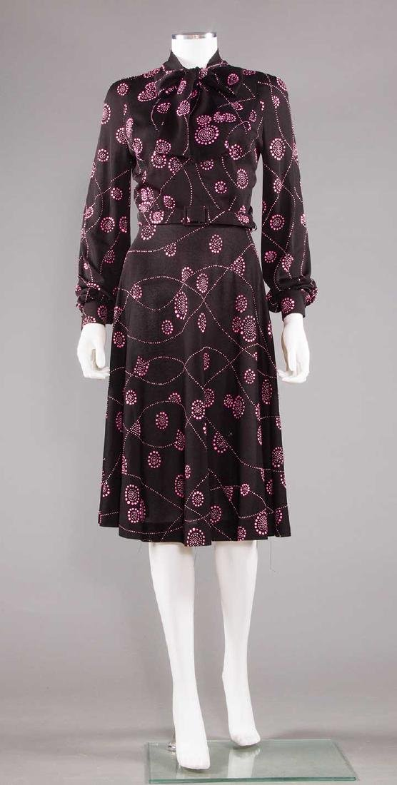 TWO PRINTED DAY DRESSES, 1970 - 4