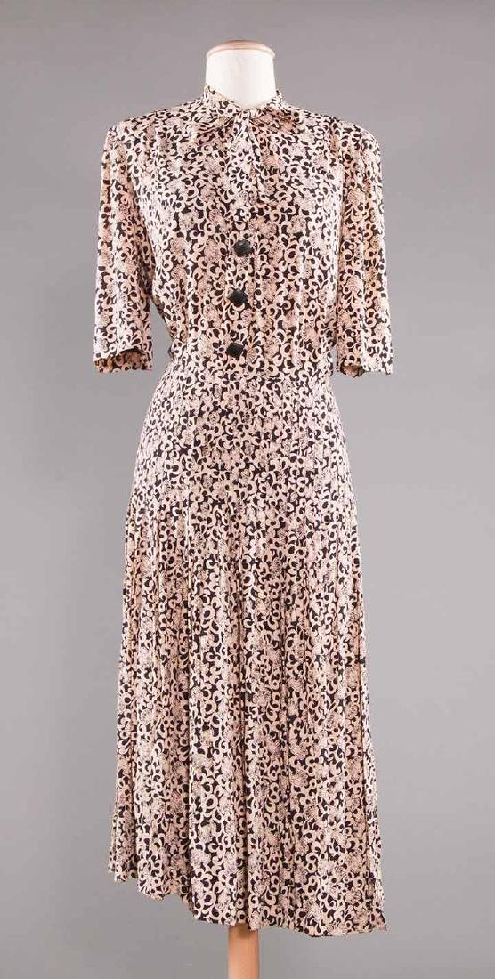 TWO PRINTED DAY DRESSES, 1970 - 7