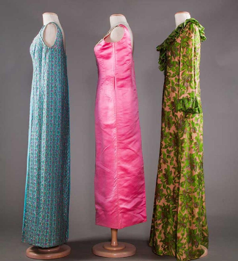 THREE EVENING GOWNS, 1960-1970s - 2